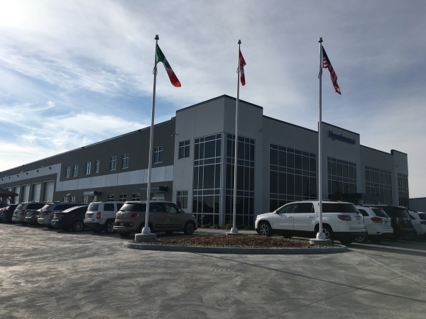 Hyndman Transport's new headquarters at Hwy. 401 and Hwy. 97.