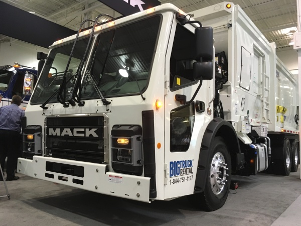 The Mack LR refuse truck.
