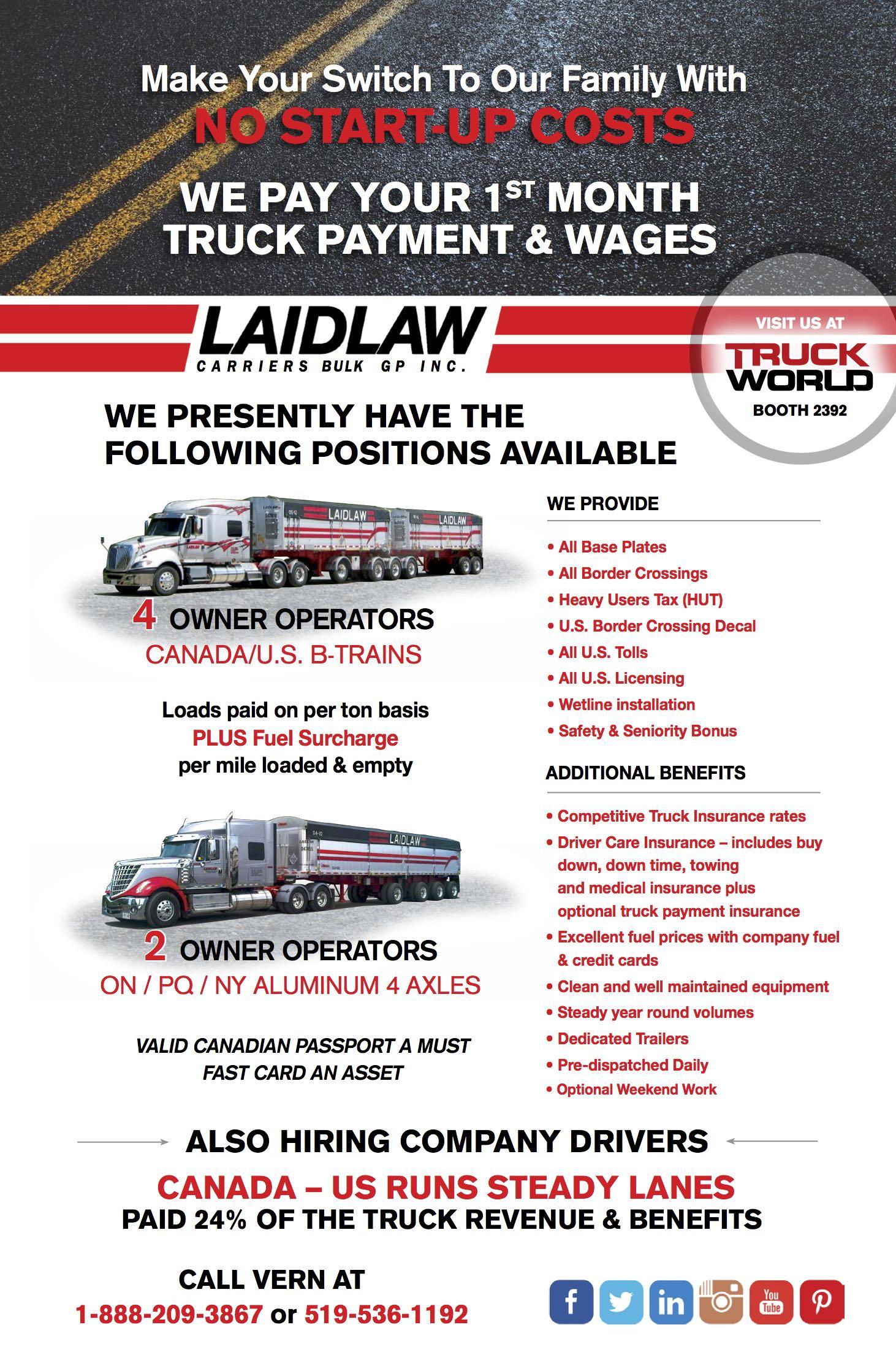 Laidlaw Carriers – (Dumps-Bulk)