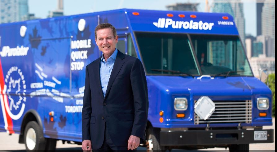 Showing John Ferguson, president and CEO of Purolator.