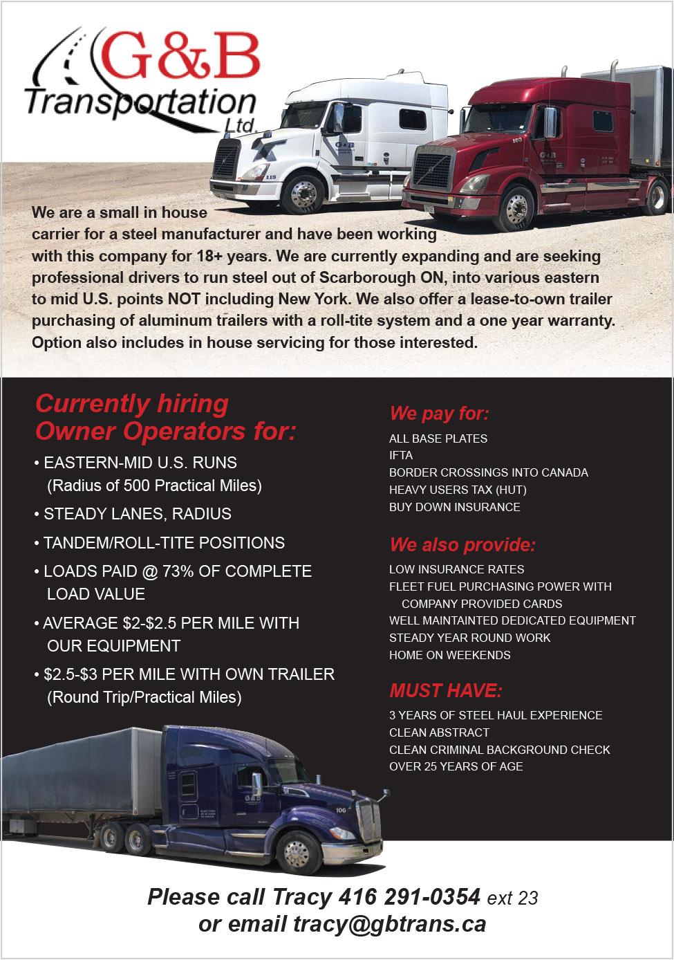 G&B Transportation Ltd.