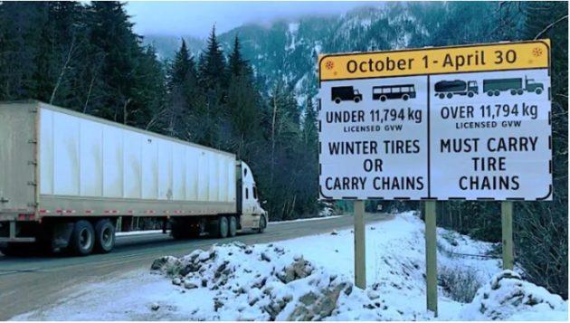 B.C. chain-up regulations