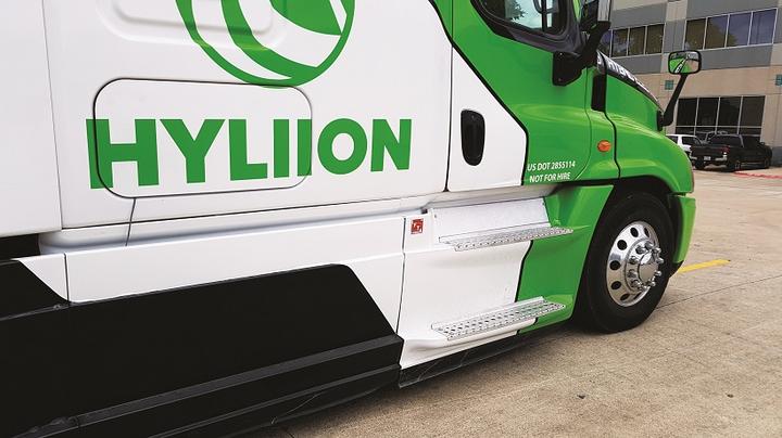 Hyliion truck branding
