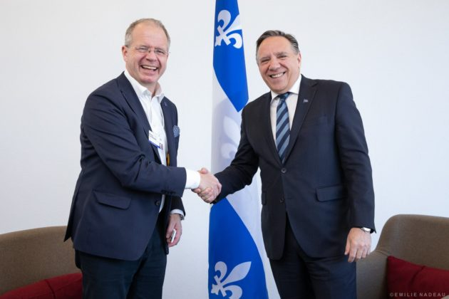 Quebec Premier and Volvo Group president