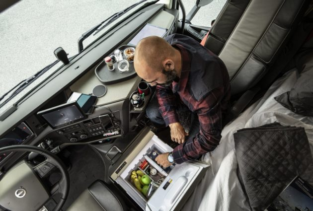 Volvo truck interior