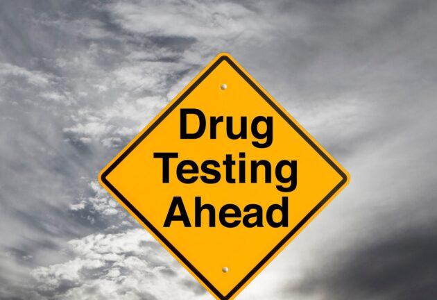 Drug testing highway sign