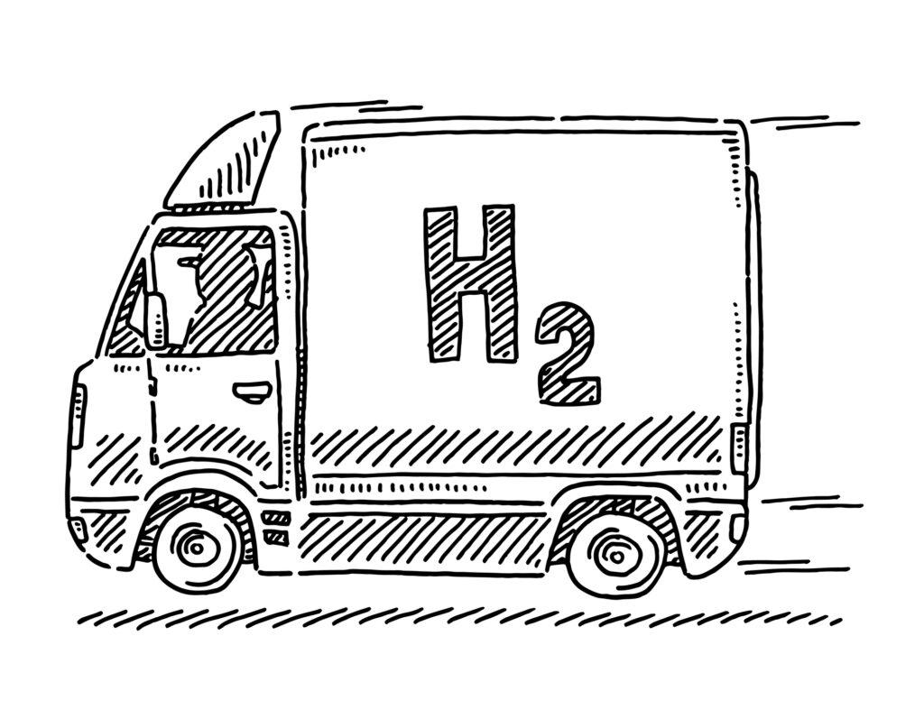 hdyrogen-powered truck
