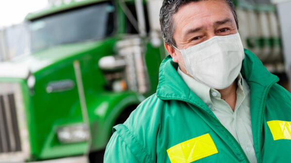 Truck driver face mask