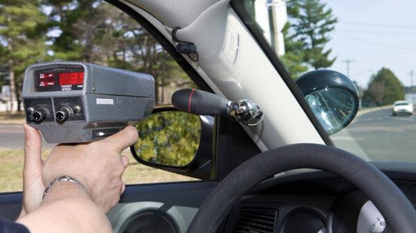 Police radar gun