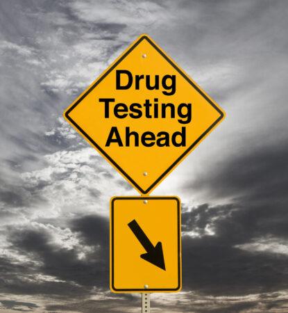 drug testing sign