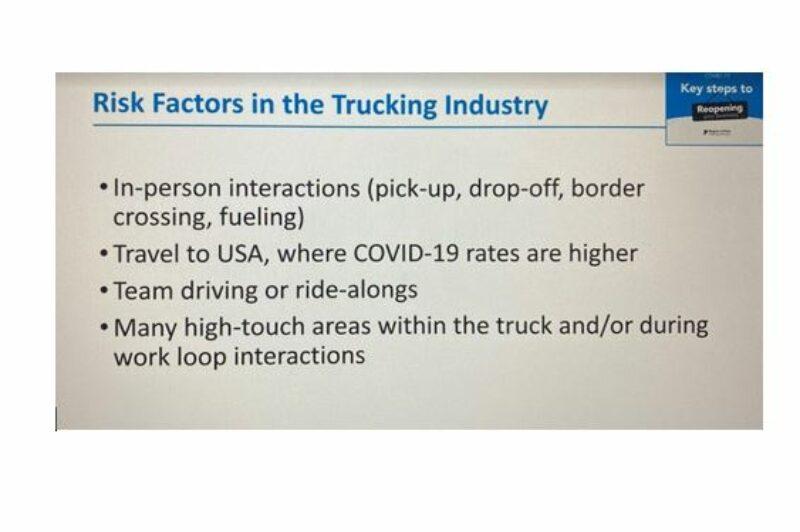 Truckers Face Unique Covid 19 Risks Truck News