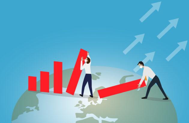 Covid-19 economic recovery illustration