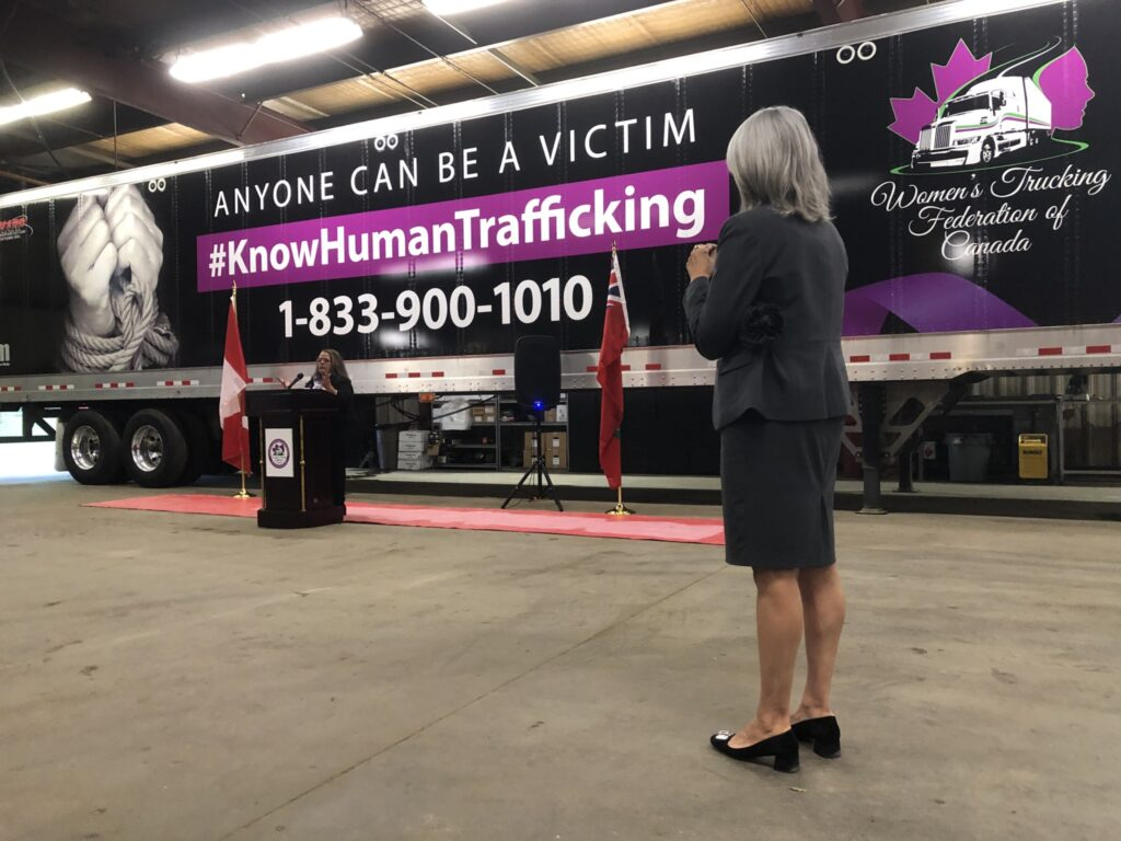Anti-trafficking trailer