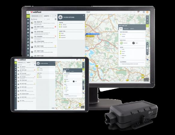 Webfleet asset tracking interface