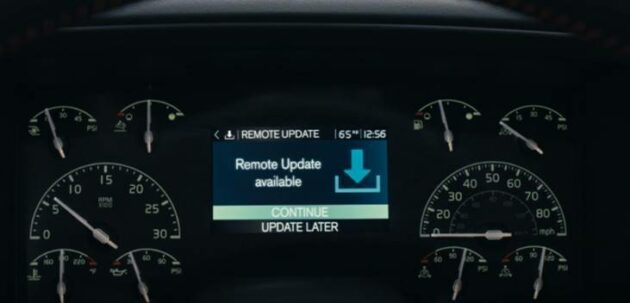 OTA engine update screen