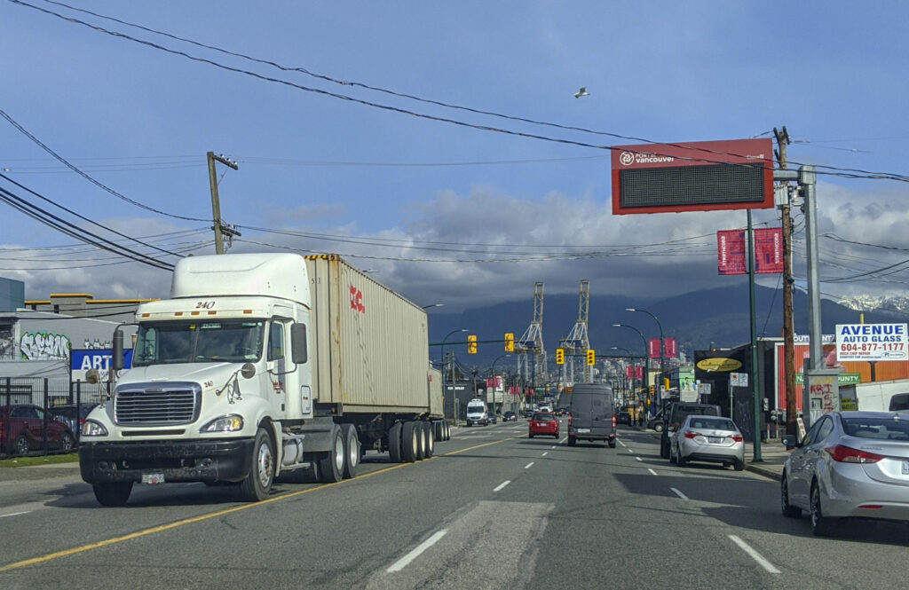 Vancouver container traffic
