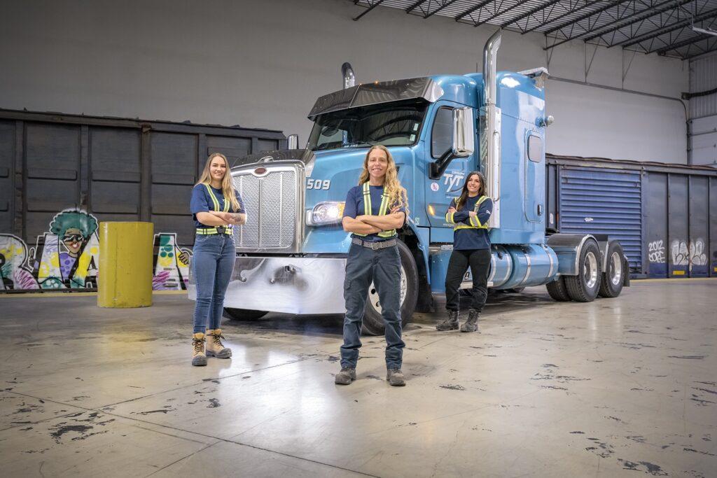 TYT women truck drivers