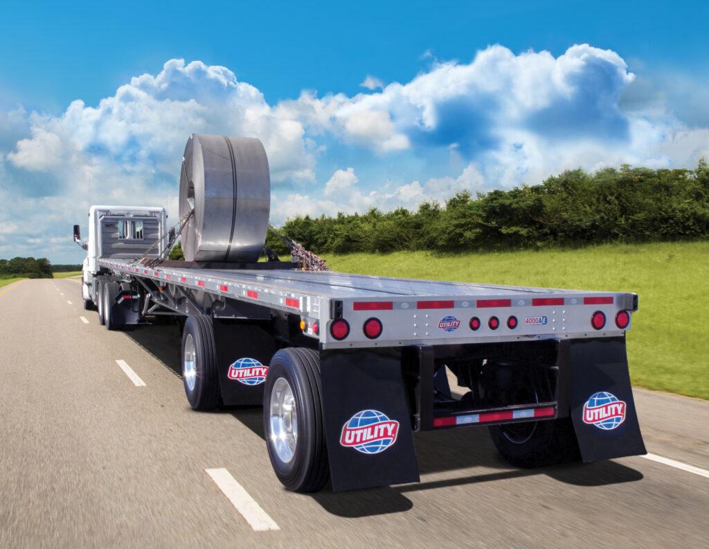 Utility steel coil trailer