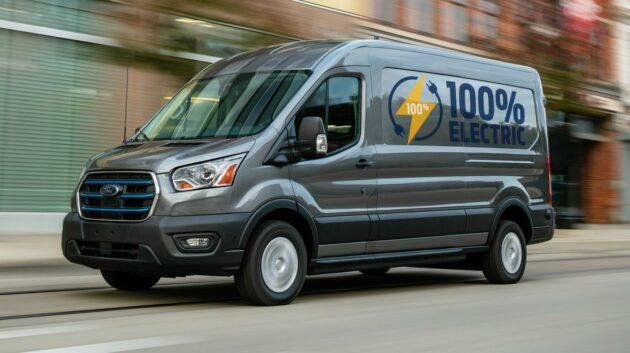 Ford E-Transit van