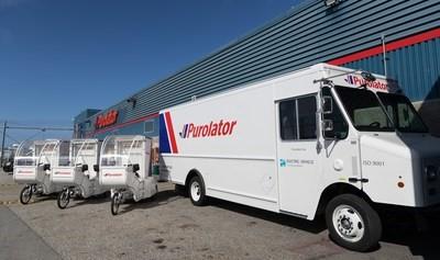 electric purolator trucks
