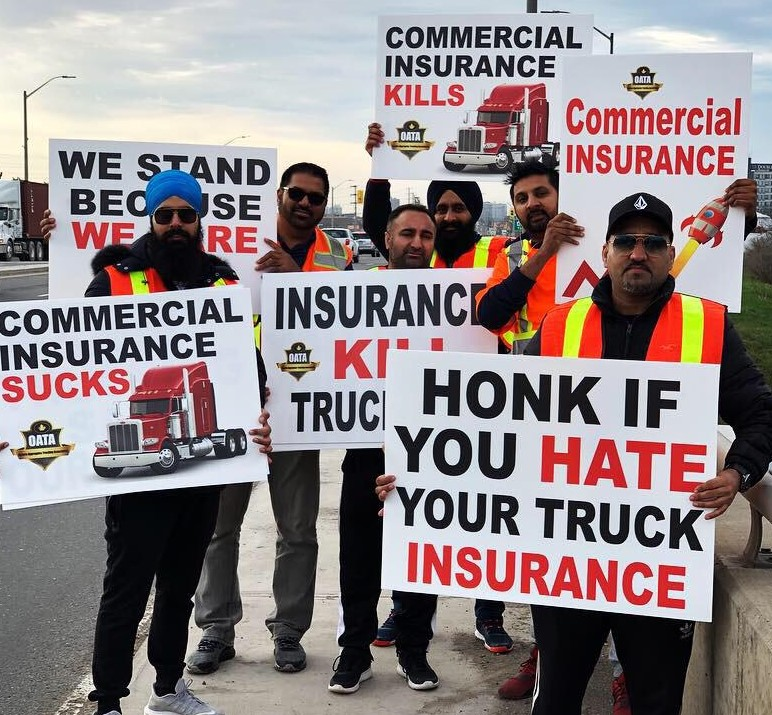 truck insurance protests