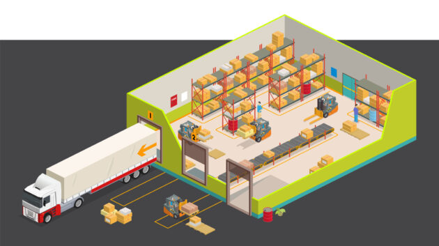 warehouse and truck