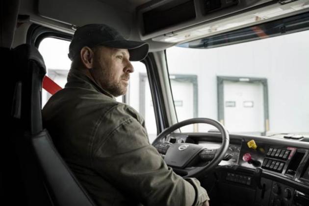 driver in Volvo truck
