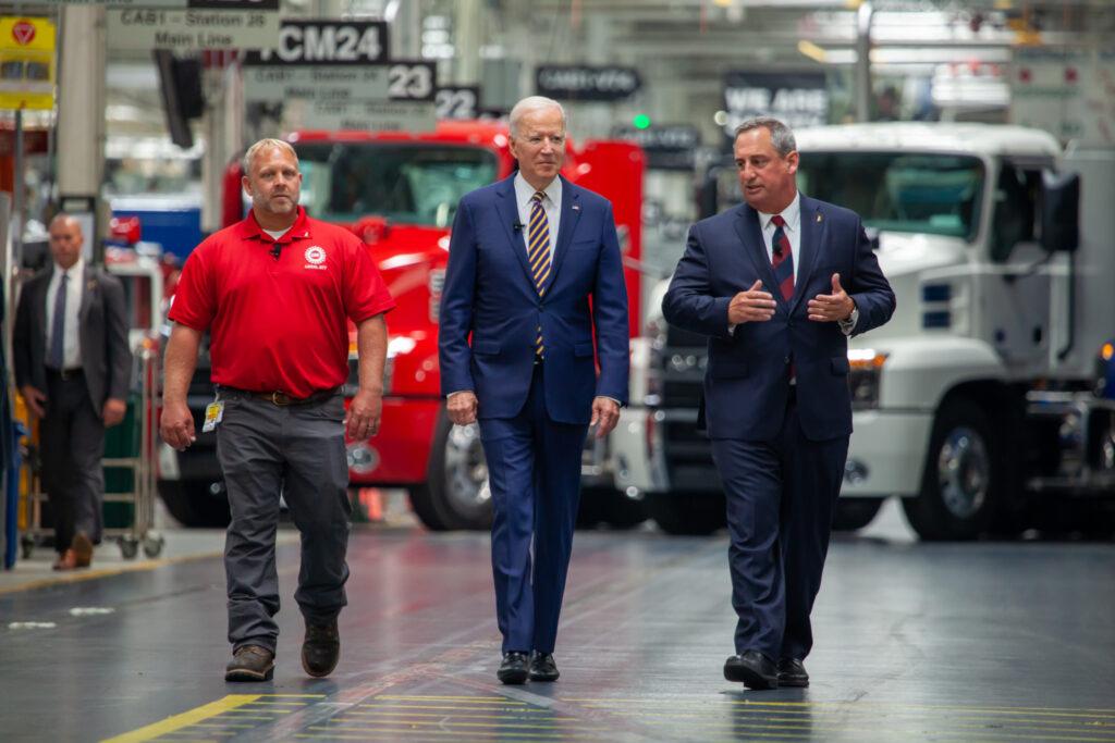 President Biden at Mack Trucks