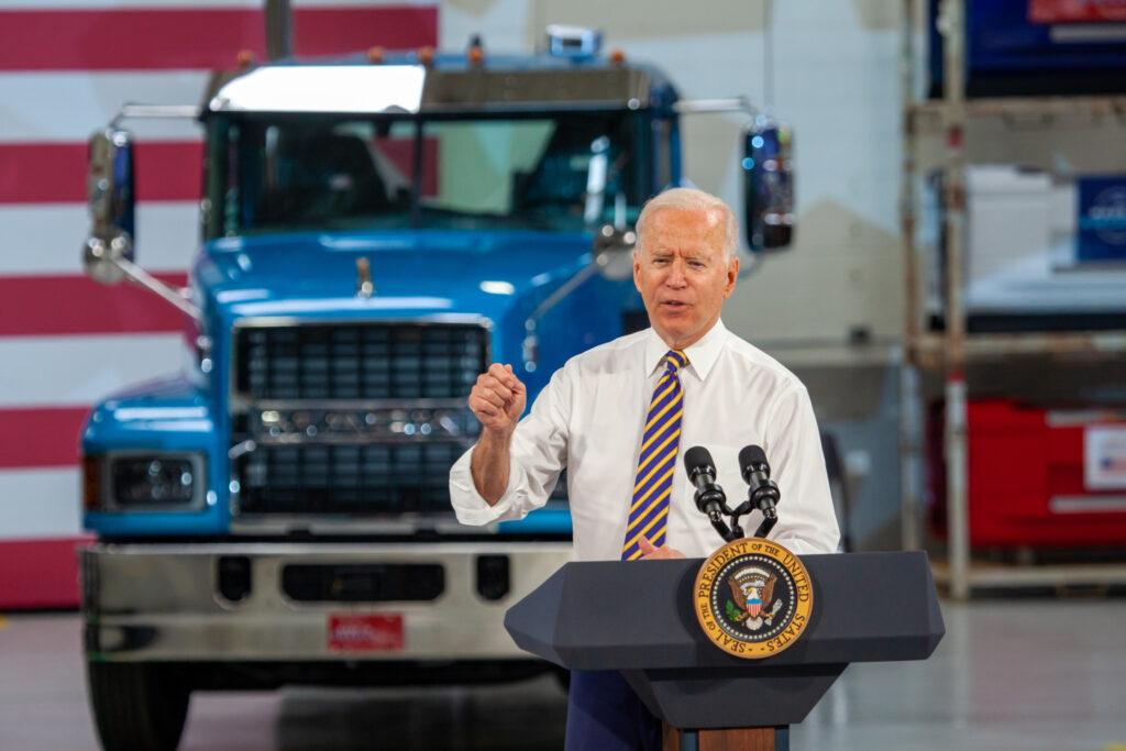 Biden and Mack Truck