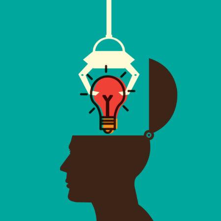 lightbulb in human head