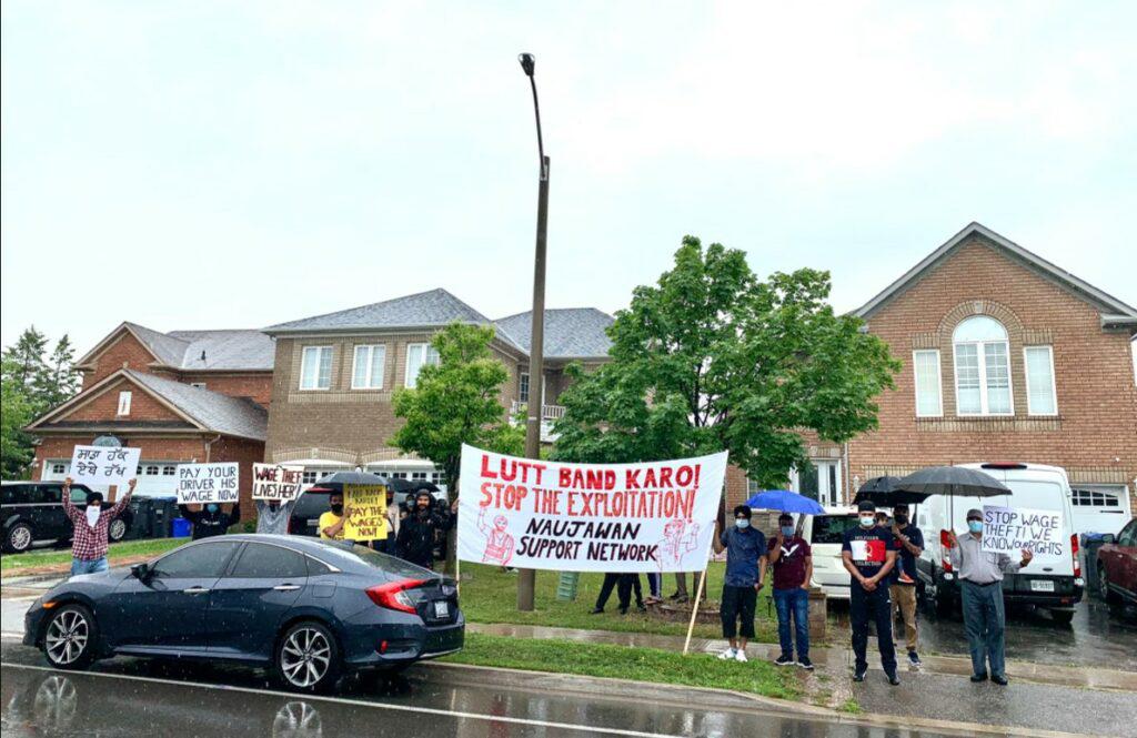 Brampton truck driver protest