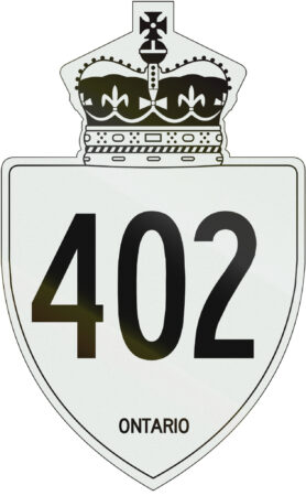 Hwy. 402 sign