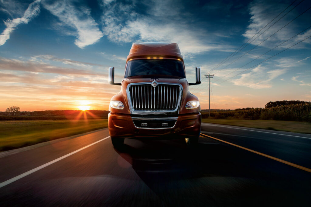 International LT truck