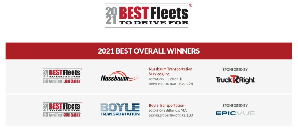 Best Fleets to Drive For poster.