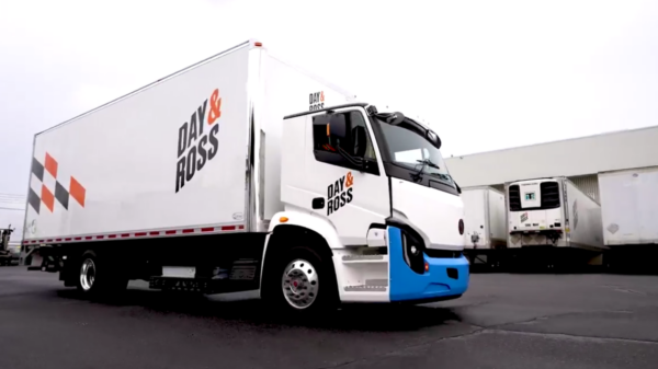 Picture of Day & Ross Lion electric truck