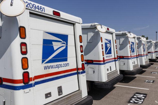 USPS trucks
