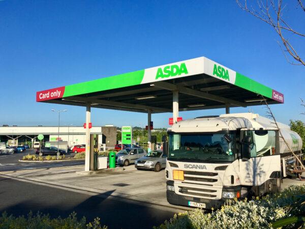 British fuel truck