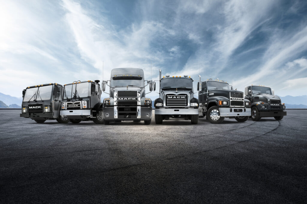 A picture of the Mack Trucks lineup