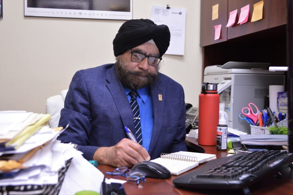 Deepinder Loomba at his office in Brampton, Ont. (Photo: Leo Barros)