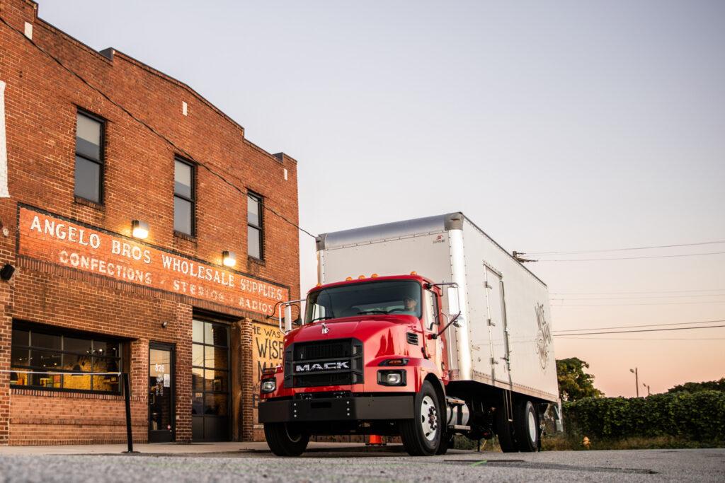 Showing a Mack MD medium-duty truck