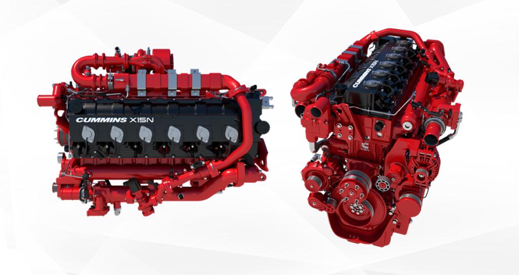 Showing Cummins 15-liter natural gas engines