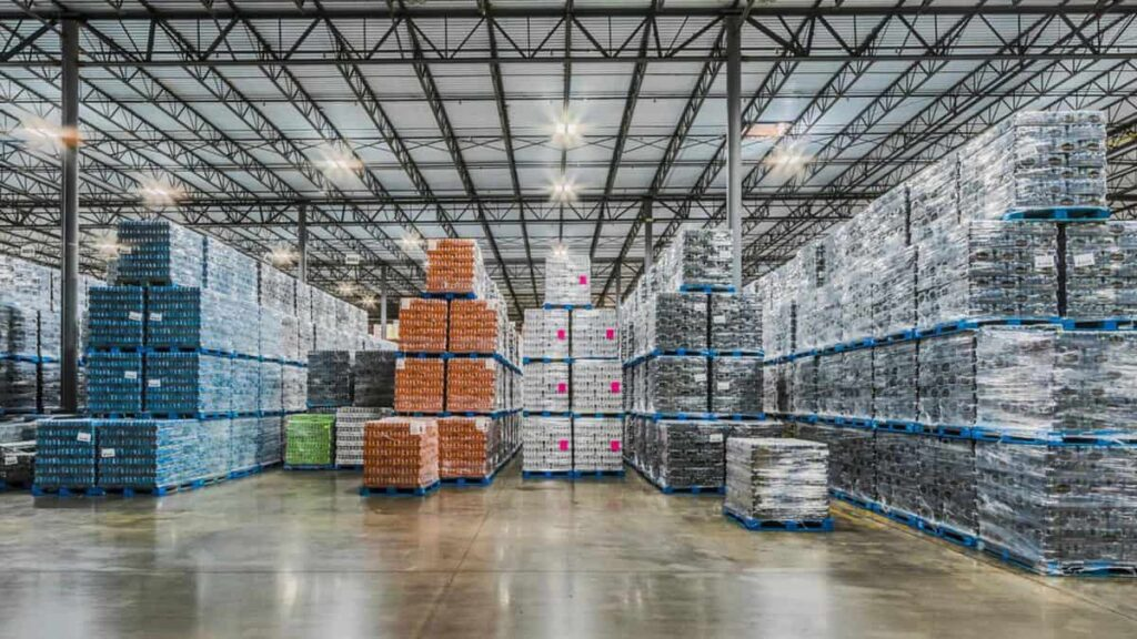 Showing the inside of a Drinx warehouse